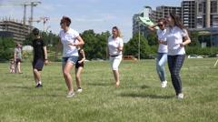 Flashmob teacher show dance hip hop element for people in park. 4K Stock Footage