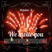 Sample template of invitation to celebration - stock illustration