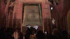 Bell chiming New Year, Bell Tower, Beijing - stock footage