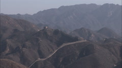 The Great Wall of China, mountains Stock Footage