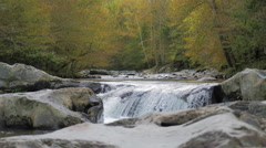 River Falls Stunning Autumn Smoky Mountain Beautiful Fall Color Stock Footage