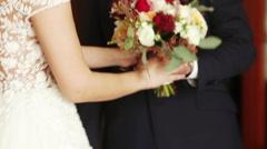 Wedding bridal bouquet Stock Footage