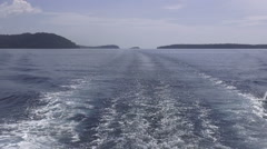 Boat trip to tropical islands, Thailand. Stock Footage