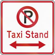New Zealand road sign RP-6.1 - No Parking in Taxi Stand Piirros
