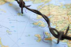 Migrant Crisis Refugees World Map - stock photo