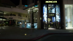 Driving Plates Multi Angle Beverly Hills Night 03 CAM4 Right Rodeo Drive 60fp Stock Footage