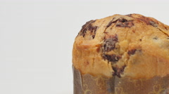 Panettone, Typical Italian dessert for Christmas. Stock Footage