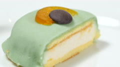 Typical italian dessert, the Cassata. Stock Footage
