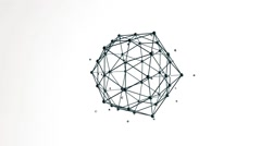 Icosahedron figure floating with particles loop Stock Footage