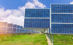 Stock Photo of Power plant using renewable solar energy