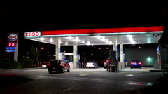 Esso gas station. Stock Footage