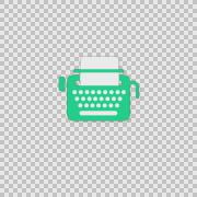 i Typewriter Alpha animation clip for video or presentation - stock footage