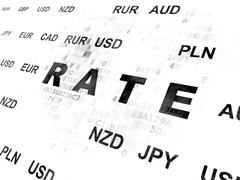 Money concept: Rate on Digital background - stock illustration