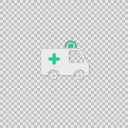 I Ambulance Alpha animation clip for video or presentation Stock Footage