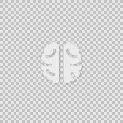i Brain Activity Alpha animation clip for video or presentation - stock footage