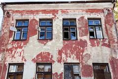 destroy buildings .  break down - stock photo
