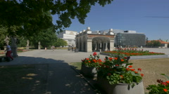 Visiting the Tomb of the Unknown Soldier in the Saxon Garden in Warsaw Stock Footage