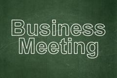 Finance concept: Business Meeting on chalkboard background - stock illustration
