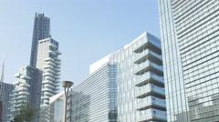 Diamond Palace, Samsung headquarter and Porta Nuova Buildings. Stock Footage