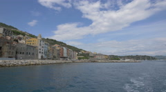 Buildings on the seafront in Porto Venere, Italy Stock Footage