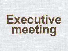 Finance concept: Executive Meeting on fabric texture background Stock Illustration