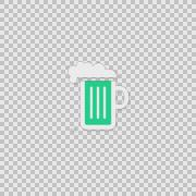 I Beer Alpha animation clip for video or presentation Stock Footage