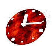 Time concept: Clock on Digital background Stock Illustration