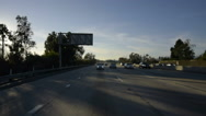 Stock Video Footage of Driving Plates Multi Angle Freeway 05 CAM2 Rear I10 Los Angeles 60fps
