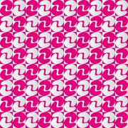 Geometric pattern with pink and pearl grey alternate shapes - stock illustration