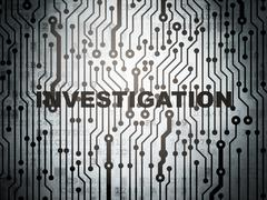 Science concept: circuit board with Investigation Stock Illustration