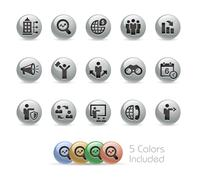 Business Opportunities -- Metal Round Series - stock illustration