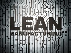 Manufacuring concept: circuit board with Lean Manufacturing - stock illustration