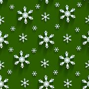 Seamless  pattern with snowflakes - stock illustration