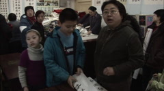Stock Video Footage of Busy classroom, Chinese calligraphy class