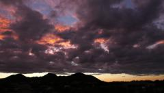 Pink Clouds Time-lapse Wide - stock footage