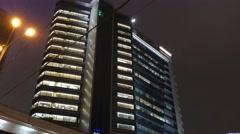 Arhitecture - 2015: 4K V Lift in Lotta Plaza at New Arbat Street Stock Footage