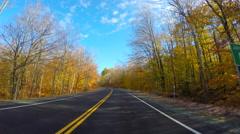 Fall foliage peak - stock footage