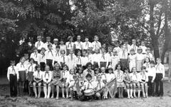 Summer camp, USSR, 1978 - stock photo