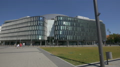 View of Regus Business Center in Warsaw Stock Footage