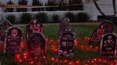 Halloween grave yard Stock Footage