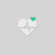 i Heart Rate Alpha whiteboard illustration animation doodle hand drawn  - stock footage