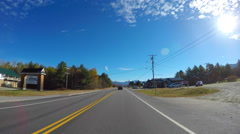 Driving through Carroll New Hampshire Stock Footage