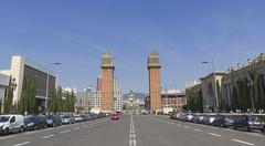 Plaza de Espanya in Barcelona, Spain. Kuvituskuvat