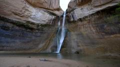 Wide shot of Calf Creek Falls - stock footage