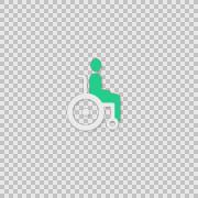 i Wheelchair Alpha whiteboard illustration animation doodle hand drawn  - stock footage