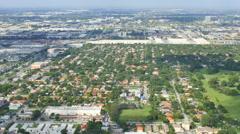Hialeah Miami aerial video Stock Footage