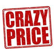 Crazy price stamp - stock illustration