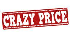 Crazy price stamp - stock illustration