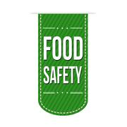Food safety banner design Stock Illustration