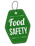 Food safety label or price tag Stock Illustration